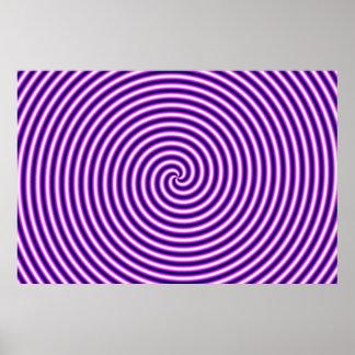 Optical Illusion Hypno Purple Poster
