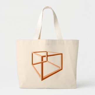 Optical Illusion Impossible Illusion 3d Geometry Canvas Bags