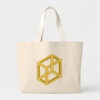 Optical Illusion Impossible Illusion 3d Geometry Tote Bags