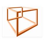 Optical Illusion Impossible Illusion 3d Geometry Postcard