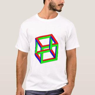 Optical Illusion - Impossible RGB Cube T-Shirt