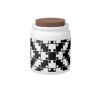 Optical Illusion in Black and White Candy Dish