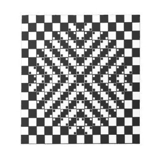 Optical Illusion in Black and White Memo Note Pads