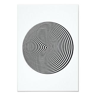 Optical Illusion 3.5x5 Paper Invitation Card