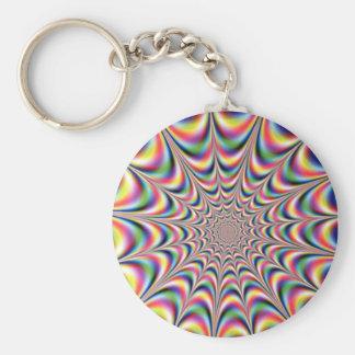 optical illusion keyring keychain