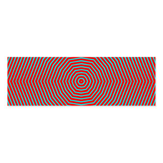 Optical Illusion Lines Business Cards