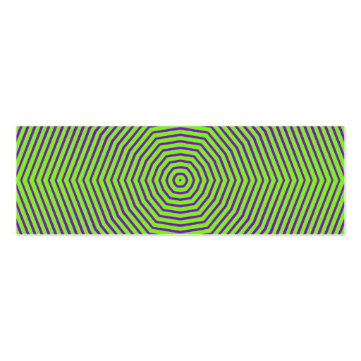 Optical Illusion Lines Business Card
