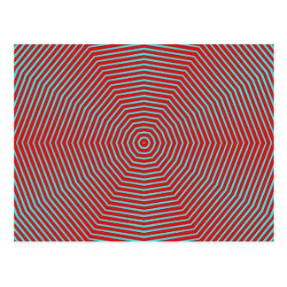 Optical Illusion Lines Postcard