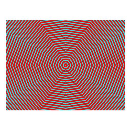Line Optical Designjet : Optical illusion lines postcard zazzle