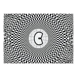 Optical Illusion Monogram C Card