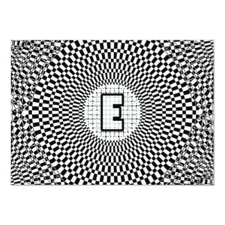 Optical Illusion Monogram E Card