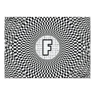 Optical Illusion Monogram F Card