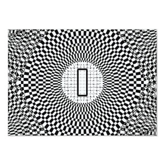 Optical Illusion Monogram I Card