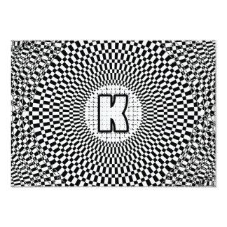 Optical Illusion Monogram K Card