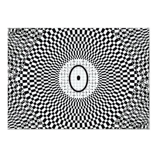 Optical Illusion Monogram O Card