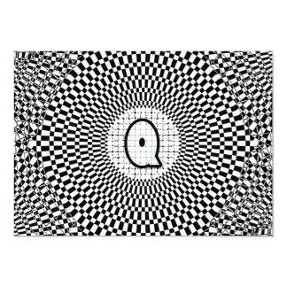 Optical Illusion Monogram Q Card