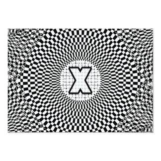 Optical Illusion Monogram X Card