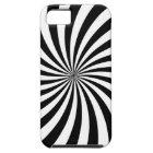 Optical Illusion Moving Black and White Swirl iPhone SE/5/5s Case