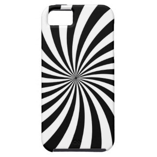 Optical Illusion Moving Black and White Swirl iPhone SE/5/5s Case