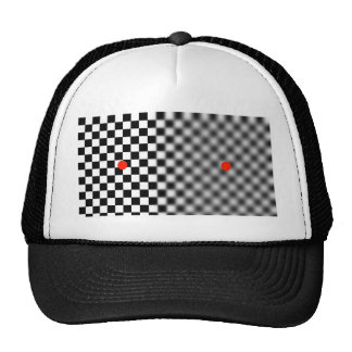 optical illusion - moving stopper cap trucker hat