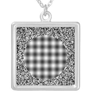Optical Illusion Personalized Necklace