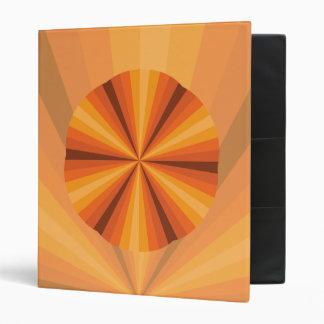 Optical Illusion Orange Binder