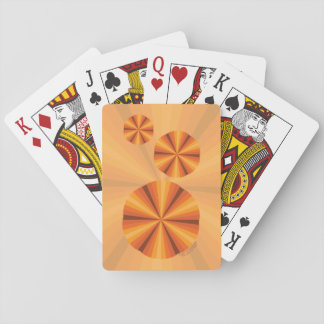 Optical Illusion Orange Classic Playing Cards
