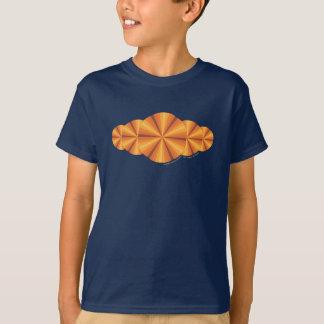 Optical Illusion Orange Kid's and Baby Dark Shirt
