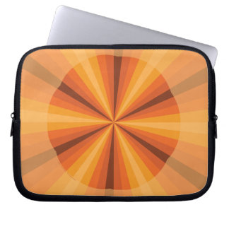 Optical Illusion Orange Laptop Case