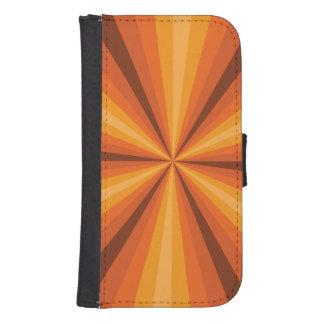 Optical Illusion Orange Smartphone Wallet Case Galaxy S4 Wallet