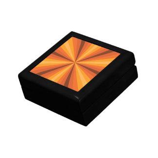 Optical Illusion Orange Tile Box