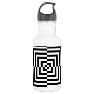 Optical illusion pattern stainless steel water bottle