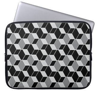 Optical Illusion Patterned Laptop Case