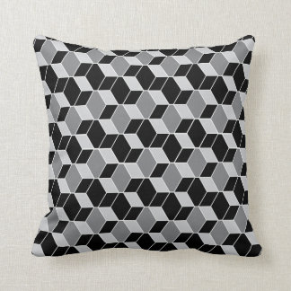 Optical Illusion Patterned Throw Pillow