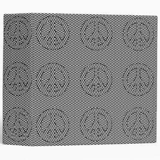 Optical Illusion Peace Binder