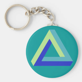 Optical illusion: penrose triangle key chains