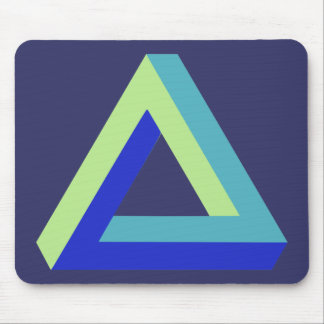 Optical illusion: penrose triangle mouse pad
