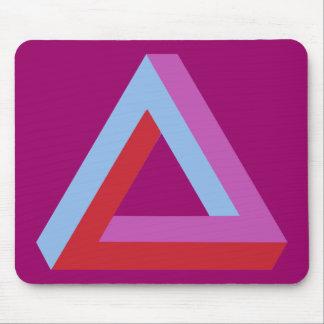 Optical illusion: penrose triangle mousepads