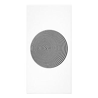 Optical Illusion Custom Photo Card
