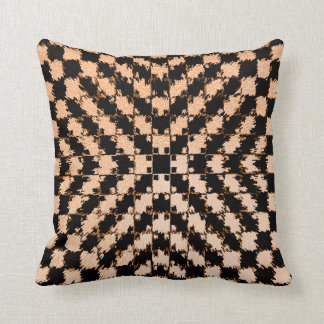 Optical Illusion Pillow in Black and Cream