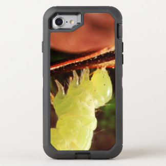 Optical Illusion Playful Green Inchworm OtterBox Defender iPhone 7 Case