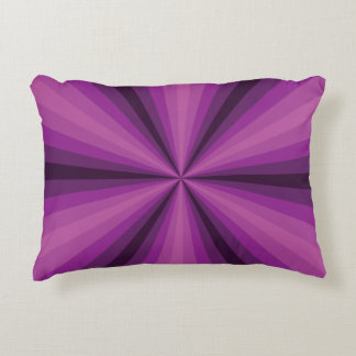 Optical Illusion Purple Accent Pillow