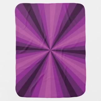 Optical Illusion Purple Baby Blanket