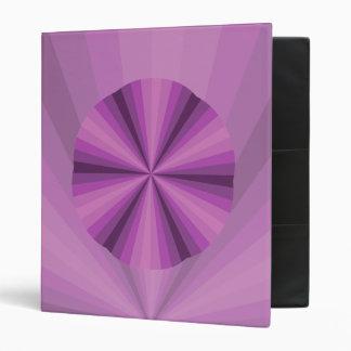 Optical Illusion Purple Binder