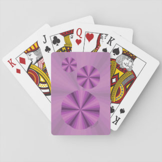 Optical Illusion Purple Classic Playing Cards
