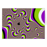 Optical Illusion Purple Green Holographic Hypnotic Greeting Card