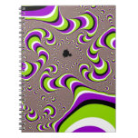 Optical Illusion Purple Green Holographic Hypnotic Spiral Note Book