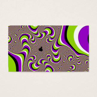 Optical Illusion Purple Green White Holographic Business Card