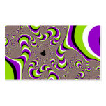 Optical Illusion Purple Green White Holographic Double-Sided Standard Business Cards (Pack Of 100)