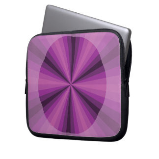 Optical Illusion Purple Laptop Case
